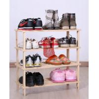 Dark Espresso 4 Layer Wooden Display Stands For Shoes In Home Manufactures