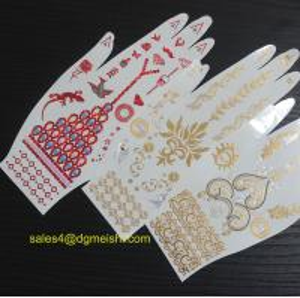 Metallic gold temporary jewelry tattoo sticker Manufactures