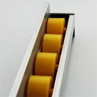Higher Side Aluminum Extruded Shapes Track Yellow Wheel 4 M 34mm Diameter Manufactures
