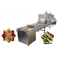 China 60KW Conveyor Belt Insect Microwave Drying Machine Easy Cleaning And Run Stable on sale