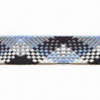 Polyester/Nylon/Cotton Flat Rope with Oeko-Tex Mark, Widely Applied to Diversified Industries Manufactures