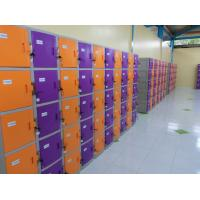 China ABS / Metal Coin Operated Lockers Anti UV Aging Commercial Gym Lockers on sale