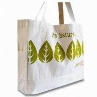CPSIA Handled Organic Cotton Bag , Woven Labels Cotton Bags Manufactures