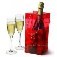 Shiny Transaprent Wine Bottle Cooler Bag Cooling Ice Bag With Long Lifetime Manufactures