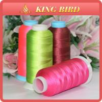 Viscose 100% Rayon Embroidery Machine Threads Bright Pink For Knitting Manufactures