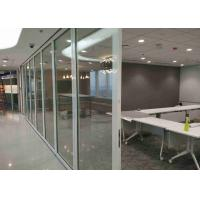 Office Frameless Glass Wall , Aluminum Interior Glass Partitions Sliding Manufactures