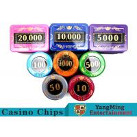 730 Pcs Crystal Screen Style Roulette Chip Set / Poker Game Set In Aluminum Case Manufactures