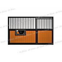 Durable Bamboo Horse Stalls / Horse Stable Box Heavy Duty In Black Coating Manufactures
