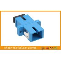 Single - mode Duplex Optic Fiber Adapter SC / UPC With Stainless Steel Clip Manufactures
