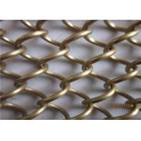 Gold Color Metal Coil Drapery Aluminum Alloy Material For Room Divider Manufactures