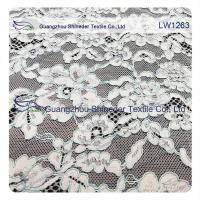 Cotton Nylon Cord Lace Fabric floral flower pattern for garmen wholesale Manufactures