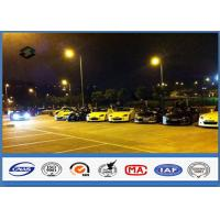 China 8m Single Arm Galvanized Parking Lot Light Pole for Road / Square / Street on sale