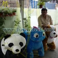 Hansel China Plush Motorized Animals Stuffed Zippy Rides Electric Animal Scooters for sale Manufactures