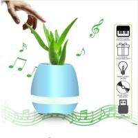 Flowerpot Night Lamp Small Wireless Speakers Smart Piano Touch Music Singing Plant Pot Manufactures