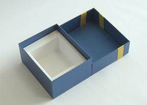 China Hard Cardboard Gift Boxes Lid And Base Favor Packaging Boxes With Ribbion on sale