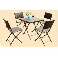 Leisure Wicker Rattan Chairs with Aluminum Frame , Folding Dining Room Chairs