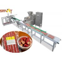 100 - 300kg / H Auto Meat Strip Traying System With Two Layers Belts Design Manufactures