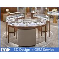 Nice Attractive Round Stain Steel Jewelry Showcases Rose Gold + Beige Color Manufactures