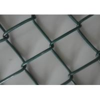 Quality 9 Gauge Wire with 50mm Hole 6' x 50' PVC Diamond Chain Link Fence with Green for sale