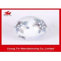 China Shiny Finish Christmas Egg Tin Box Full Color Printing For Candy Sweets Packaging on sale