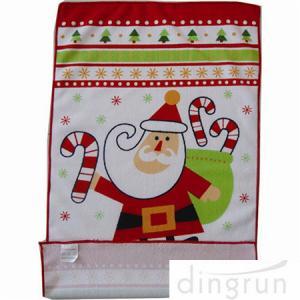 Custom Printed Microfiber Kitchen Towels Christmas Design Low Cadmium Manufactures
