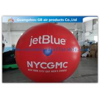 China Inflatable Big Advertising Balloons , Red Air Balloon Advertising Helium Ball on sale