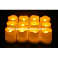 Quality Artificial Wax Flameless LED Votive Candles Lighting , Electronic Battery Operated LED Candles for sale