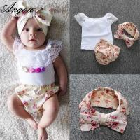 Angou hot sale baby floral sets ins new infant baby suits European&American cute baby girl Manufactures