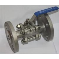 Quality 3-pc stainless steel flange ball full port valves ss304 CF8M for sale