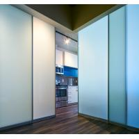 Modern Frosted  Glass Office Partition Walls / Glass Office Dividers Manufactures