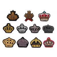 Indian silk diamond monkey crown hand embroidered sequin beaded uniform shoes badge patch Manufactures