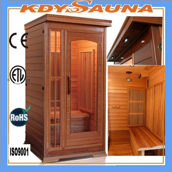 1 person red cedar far infrared sauna room for sale of kdysaunas. Black Bedroom Furniture Sets. Home Design Ideas