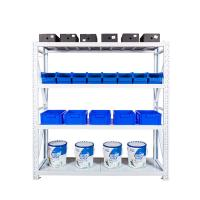 China Hot sale 4 layer stainless steel storage rack, light duty metal shelf , adjustable warehouse racking system on sale