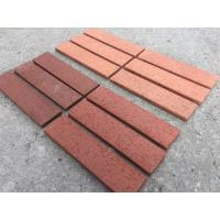 Home Exterior Split Face Brick With Clay Raw Material Wire Cut Brick Surface