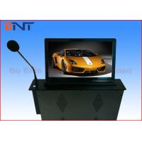 18.5 Inch Motorized Computer Desk Monitor Lift With Conference Microphone Manufactures