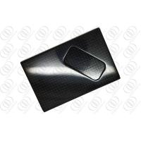 Black Carbon Fiber Credit Card Holder Anti-corrosion With Glossy Finish Manufactures