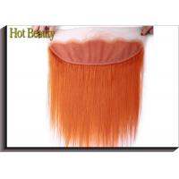 China Soft Orange Lace Top Closure Hair Piece 4 * 13 Inch No Chemical Full Cuticle Aligned on sale