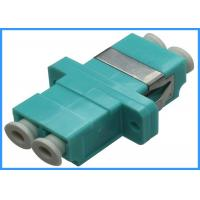 LC to LC Duplex Fiber Optic Adapters Female to Female with Aqua Housing Manufactures