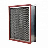Clean Room High Temperature Air Filter Ventilate System Use With Aluminum Pleated Manufactures