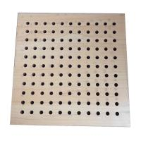China Sound Insulation Perforated Wood Acoustic Panels Wall Boards Indoor on sale