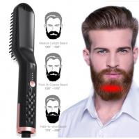 2019 New Arrival Beard Hair Straightener For Men Ionic Electric Hot Comb Professional OEM Beard Straightening Brush Manufactures