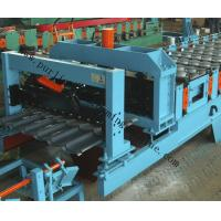 China Glazed Roof Sheet Roll Forming Machine Automatic Hydraulic Glazed Tile Roll Forming Machine / Roofing Tile Process Line on sale