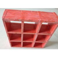 Red Fiberglass Reinforced Grating For Processing Refinery Plantform Manufactures