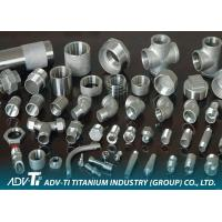 Quality GR1 / GR2 Titanium Pipe Fittings , Grey / Silver ASME B16.9 Titanium Elbow for sale