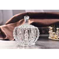 China Round Shape Glass Candy Canisters  /  Valentine'S Gift Clear Chocolate Glass Jar on sale