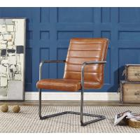 Vintage Real Leather Dining Room ChairsLight Brown Color Seater Long Service Life Manufactures