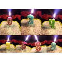 Rose Design 0 - 9 Number Birthday Candles For Birthday Party , Customized Color Manufactures