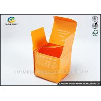 Custom Orange Foldable Cosmetic Packaging Boxes For Cosmetic Skincare Cream Manufactures