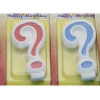 !Question Mark !White Egde Question Mark Shape Candles  with 2 Colors Filling-in Manufactures