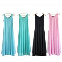 O Neck Teal Pink Womens Summer Maxi Dresses Mesh Veils Strappy Prom Dresses Manufactures
